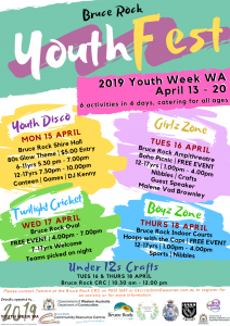 2019 Bruce Rock YouthFest @ Bruce Rock Community Resource Centre