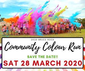 2020 Bruce Rock Community Colour Run @ Bruce Rock Recreation Grounds